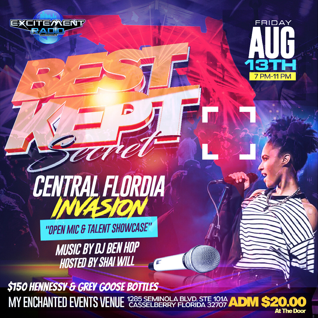 BEST KEPT SECRET LIVE - ORLANDO & CENTRAL FLORIDA INVASION